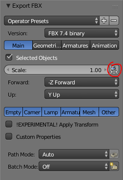 Fixing scale problems exporting  fbx files from Blender to